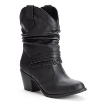 SO Women's Slouch Cowboy Boots