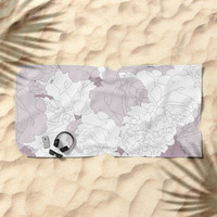 Tender Roses Beach Towel by bitart
