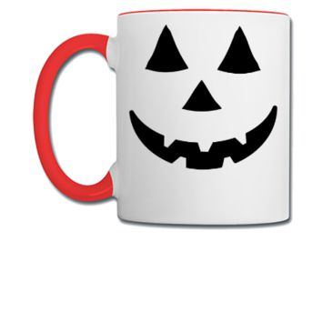 Pumpkin Face Art  - Coffee/Tea Mug
