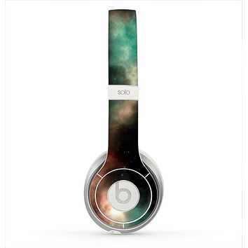 The Dark Green Glowing Universe Skin for the Beats by Dre Solo 2 Headphones