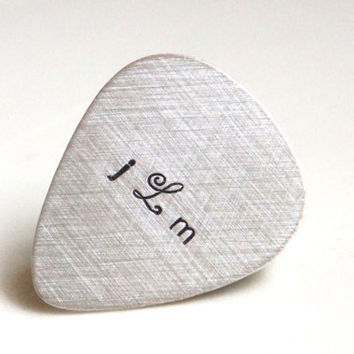 Custom Guitar Pick  Personalized Sterling by RiverValleyJewelry