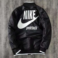 NIKE casual men and women behind the large letters logo coat