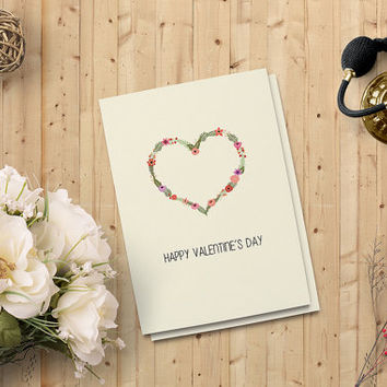 "Valentine's Day Card - Printable Instant download - Lover's Day Greeting Card - 5""x7"" Digital Downloadable Card - on SALE 50%"