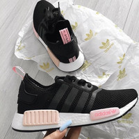 """Adidas"" NMD Trending Fashion Casual Sports Shoes Pink soles"