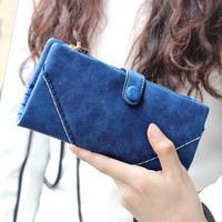 Ladies Vintage Leather Wallet for Women