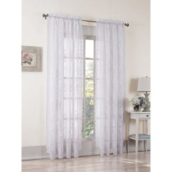 No. 918 Alison Sheer Lace Curtain Panel - Walmart.com