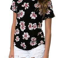 The Paige Dolman Tee in Dark Floral