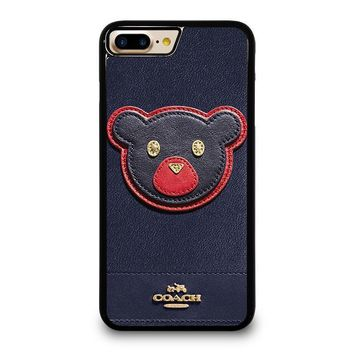 coach new york bear iphone 4 4s 5 5s se 5c 6 6s 7 8 plus x case  number 1