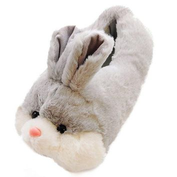 Caramella Bubble Classic Bunny Slippers | Fuzzy Slippers For Lovers | Cozy Fun Plush Indoor Shoe | Soft Sole Clog | Warm Anti Slip House Slippers For Women