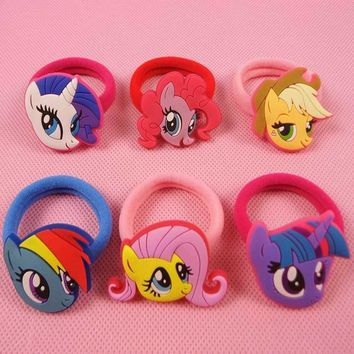 2pcs/lot Cartoon My Little Ponys Hair Clip for girl Children Hair Accessories Clip Hair Pins Girls Hairpins  Kids