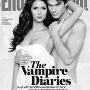 "Vampire Diaries Poster Black and White Poster 24""x36"""