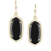 Dani Gold Earrings in Black - Kendra Scott Jewelry