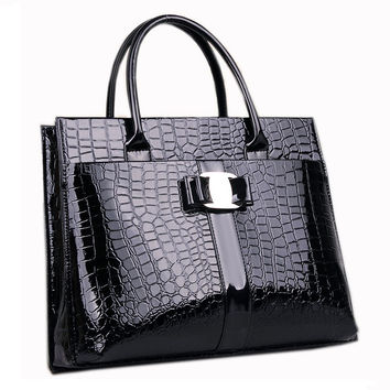 Lady Top-Handle Bags Women Designer Handbags High Quality PU Leather Bag OL Briefcase sac a main femme de marque luxe cuir 2016