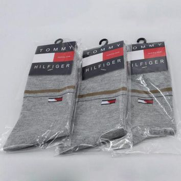 DCCKNQ2 Tommy Hilfiger Woman Men Cotton Socks-1