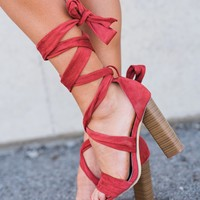 Jessie Lace Up Heels (Cinnamon)