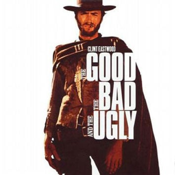 The Good The Bad And The Ugly Clint Eastwood Vintage Movie Poster