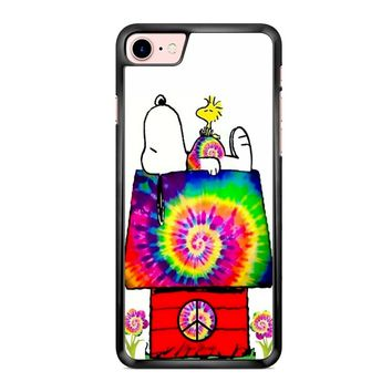 Snoopy And Woodstock Tie Dye iPhone 7 Case