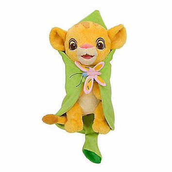 """disney parks 10"""" baby the lion king simba plush toy with blanket new with tag"""
