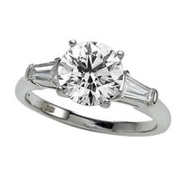 2.30 cttw Zoe R(tm) White Gold Engagement Ring with Signity by Swarovski Cubic Zirconia (CZ) Size 4.5