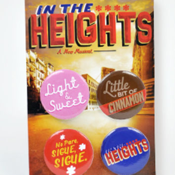 Broadway Merchandise Shop: Broadway Souvenirs and Apparel > Souvenirs > In The Heights Button Set