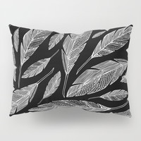 Float Like A Feather - Black Pillow Sham by Heather Dutton