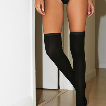 Free People Sable Lurex Over The Knee Sock