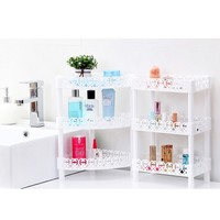 Plastic Corner Shelf Organizer Bathroom Kitchen Storage Rack Holder Hot