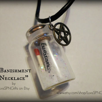 "Supernatural - inspired ""Banishing"" necklace"