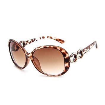 Classic sunglasses summer women's retro vintage round large 1pc fashion personality wine red glasses YJ63