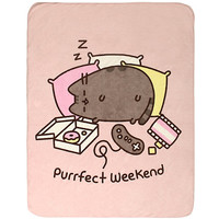 Pusheen Purrfect Weekend Throw Blanket