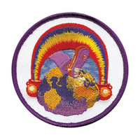 Grateful Dead Men's Embroidered Patch Purple