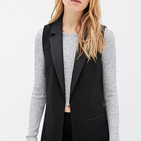 Notched-Lapel Sateen-Trimmed Vest