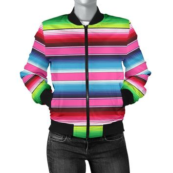 Mexican Stripe Womens Bomber Jacket