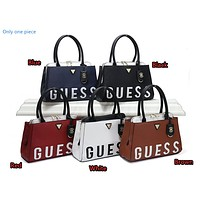 """GUESS"" spring women's fashion wild simple stitching letter shoulder bag"