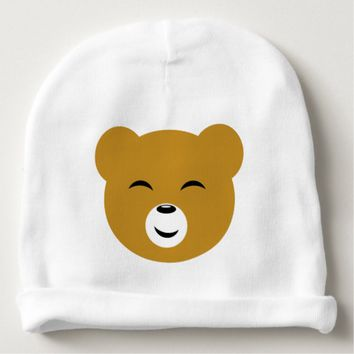 Cute Pleased Bear Face Baby Beanie