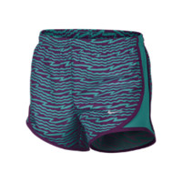 Nike Tempo Graphics Girls' Running Shorts - Turbo Green