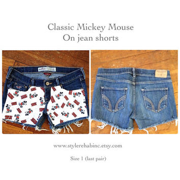 Classic Mickey Shorts. last one. size 1 or kids 14. Great for Disney world vacations, pool side, and collectible. all ages love Mickey.