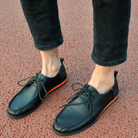 Genuine Leather Fashion Men Casual Shoes