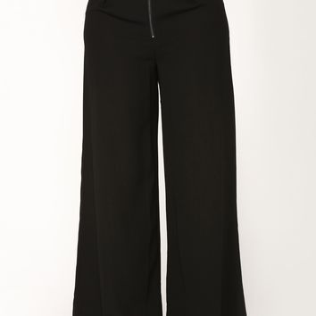 Alissa Mesh High Rise Pants - Black