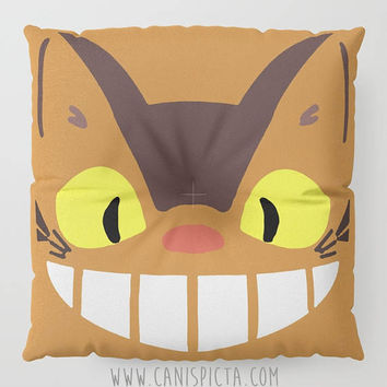 Catbus Kawaii My Neighbor Floor Pillow Round Square Cushion Anime Decorative Grey Graphic Print Anime Home Decor Ghibli Wreath Fan Cute Pouf