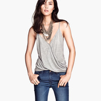 Wrap-front Tank Top - from H&M