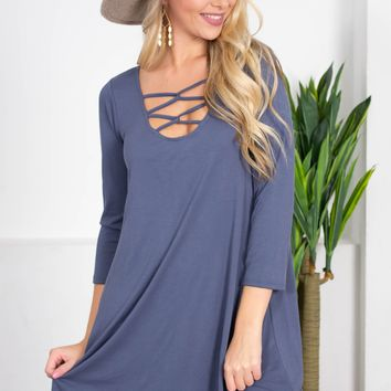 Strappy Noon Shift Dress | Colors