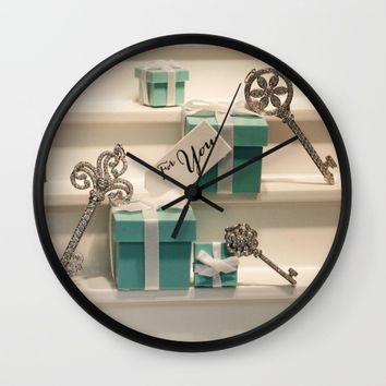 Tiffany's Key to Your Heart Wall Clock by UMe Images