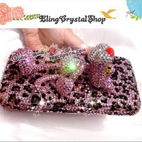 Bling Sales - Bling PINK PANTHER Style WALLET /Purse with Crystals