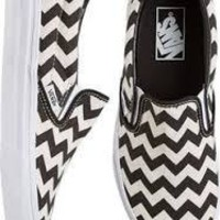 Vans Chevron Print Slip On Shoes Women's