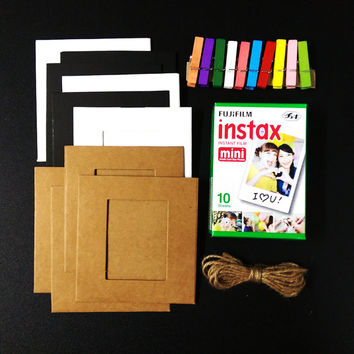 Photo Holders Paper Frame Wall Decor for Fujifilm Instax Mini Films Polaroid Instant Photos