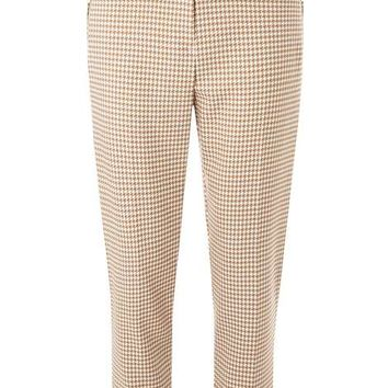 Stone Zip Dogtooth Trousers