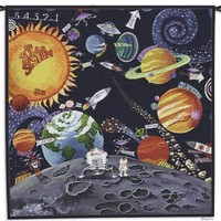 Solar System Interstellar Planets Woven Wall Tapestry