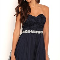 Dress with Stone Trim Empire Waist