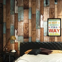 3D Stereo Imitation Wooden Block Wall Paper for Bedroom Restaurant Store Retro Wall Decor PVC Vinyl Waterproof Wallpaper Roll